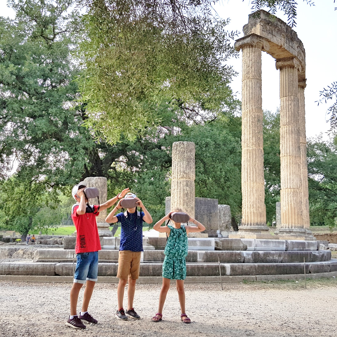 Kids know now what is the best thing to do when you visit the Archaeological Site of Olympia for the first time