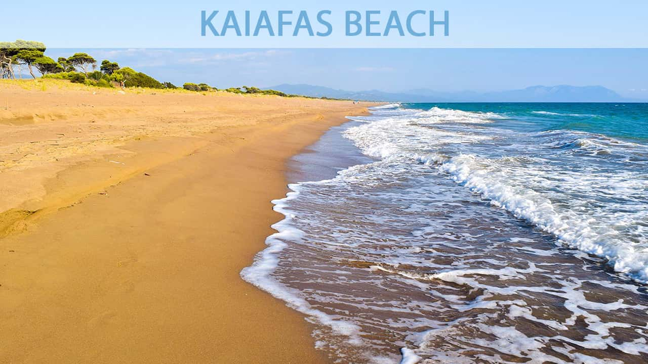 Kaiafas beach and kaifas lake - attraction near Olympia Greece