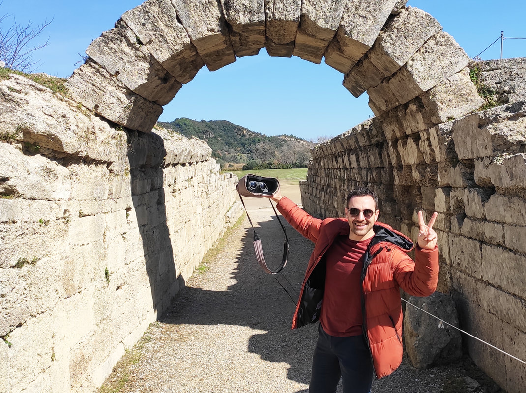 Visiting The Stadium of Olympia is much better with vr glasses